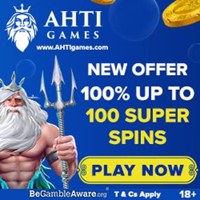 Los nuevos jugadores de AHTI Games son elegibles para un bono de bienvenida por valor del 100% del depósito.